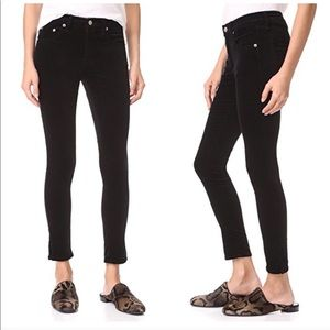 Rag and Bone • New High Rise Velvet Skinny Pants
